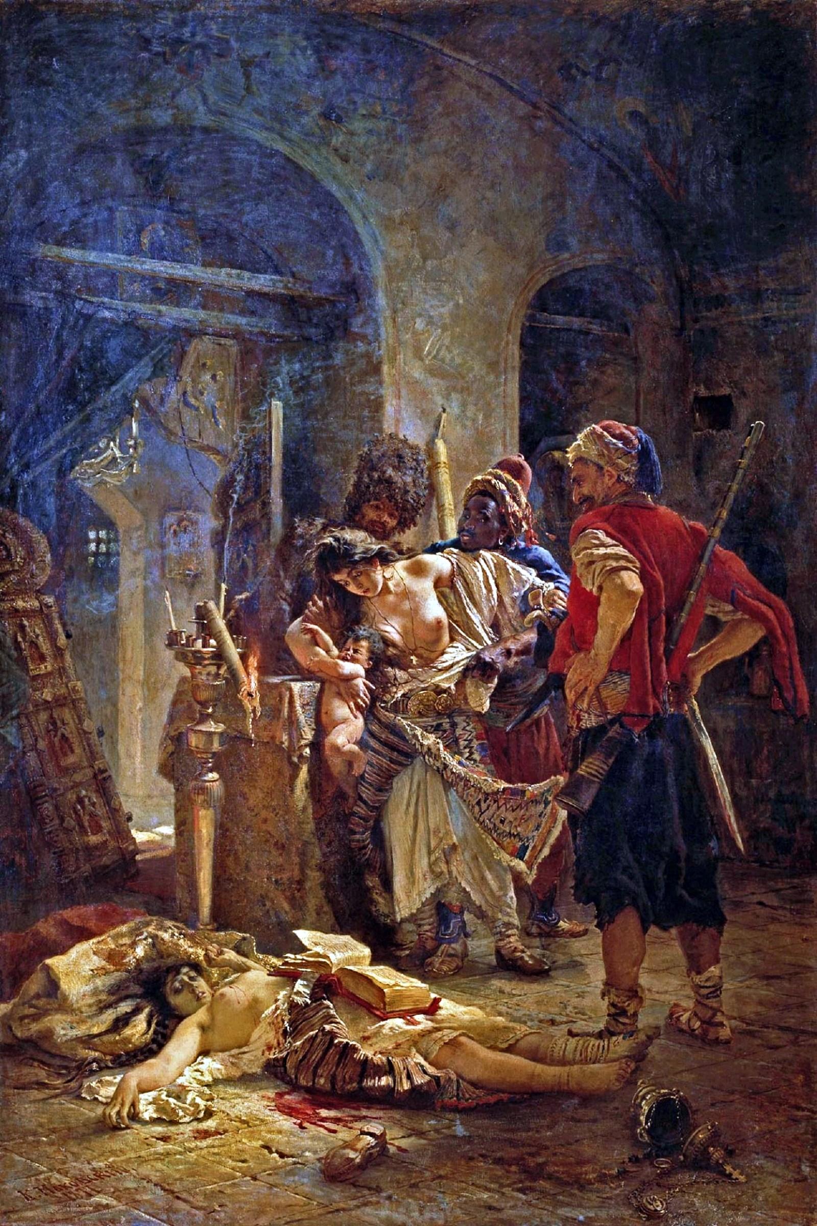 Konstantin Makovsky. Bulgarian Martyrs. 1877