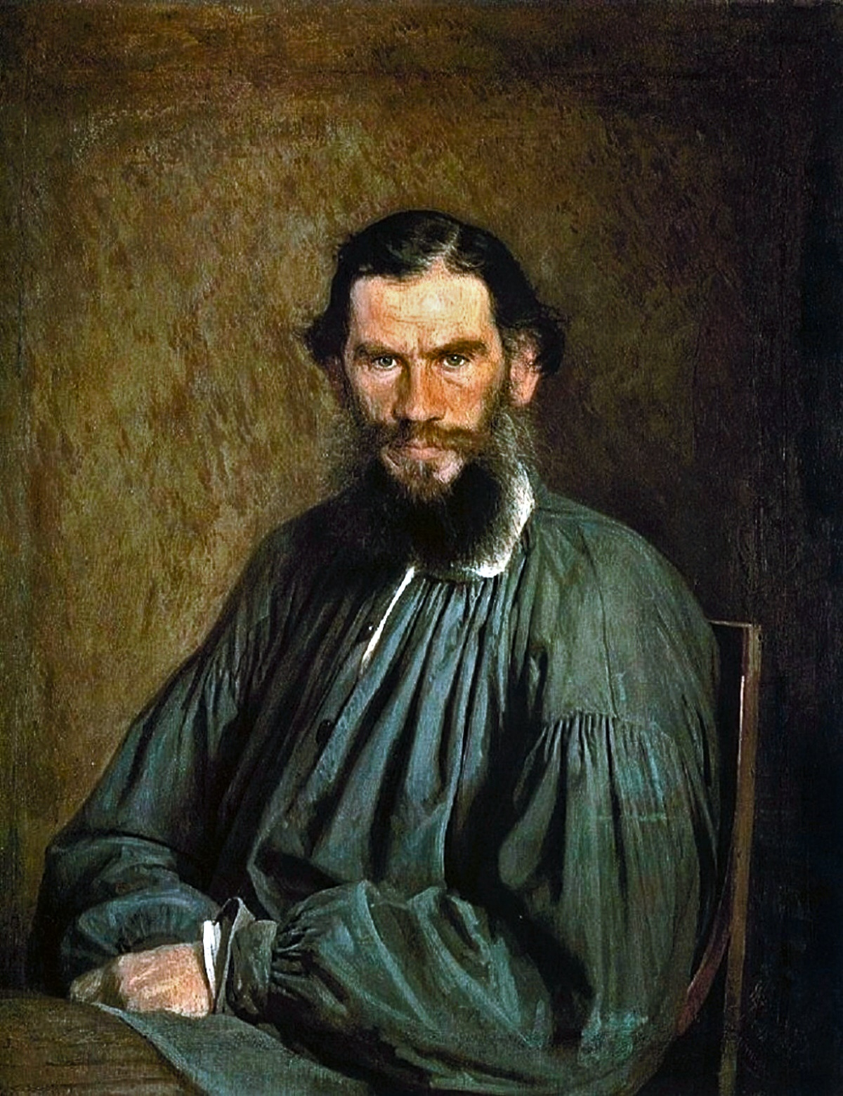 Ivan Kramskoi. A Portriat of the Author L N Tolstoy. 1873