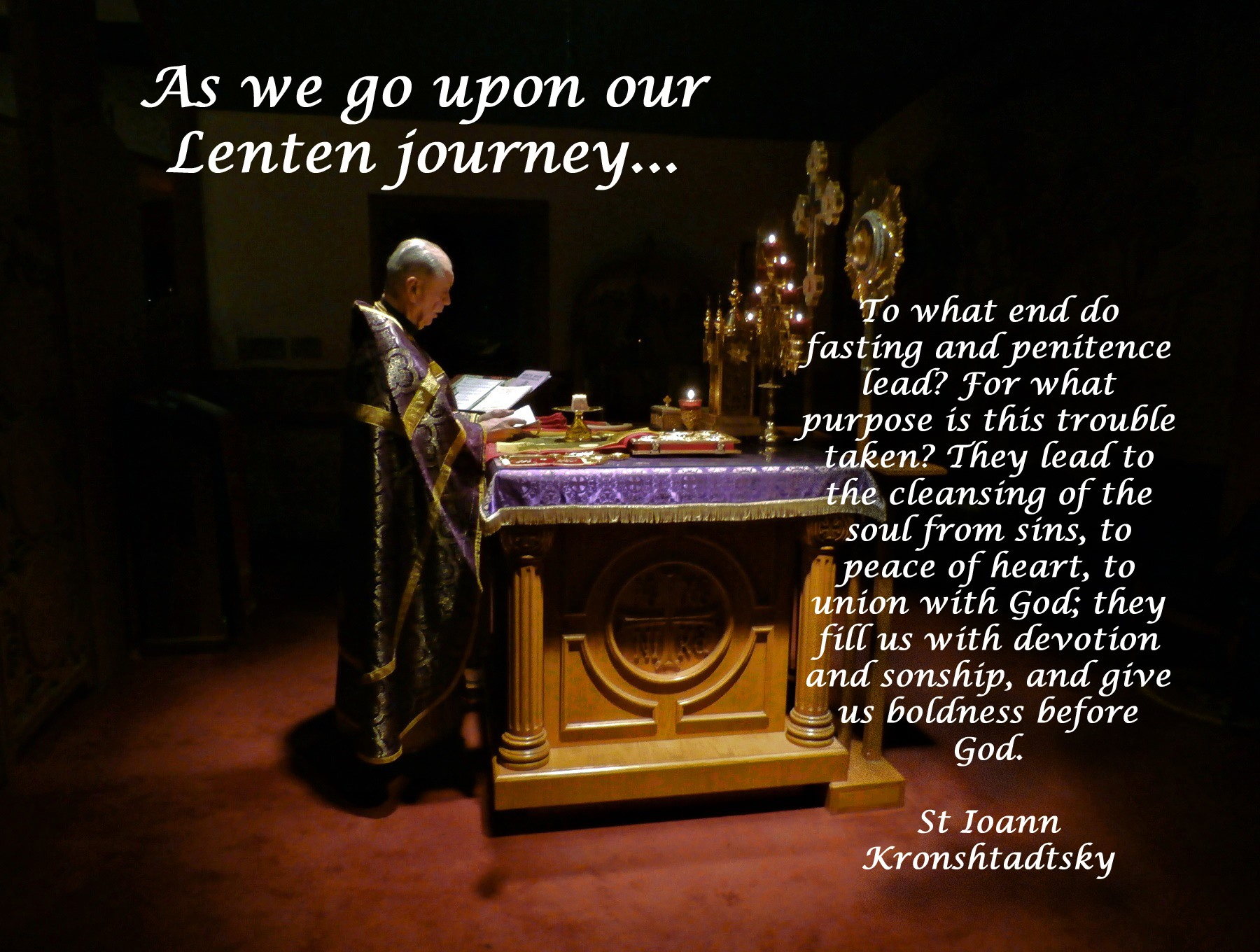 00 As we go upon our lenten journey. 11.03.15