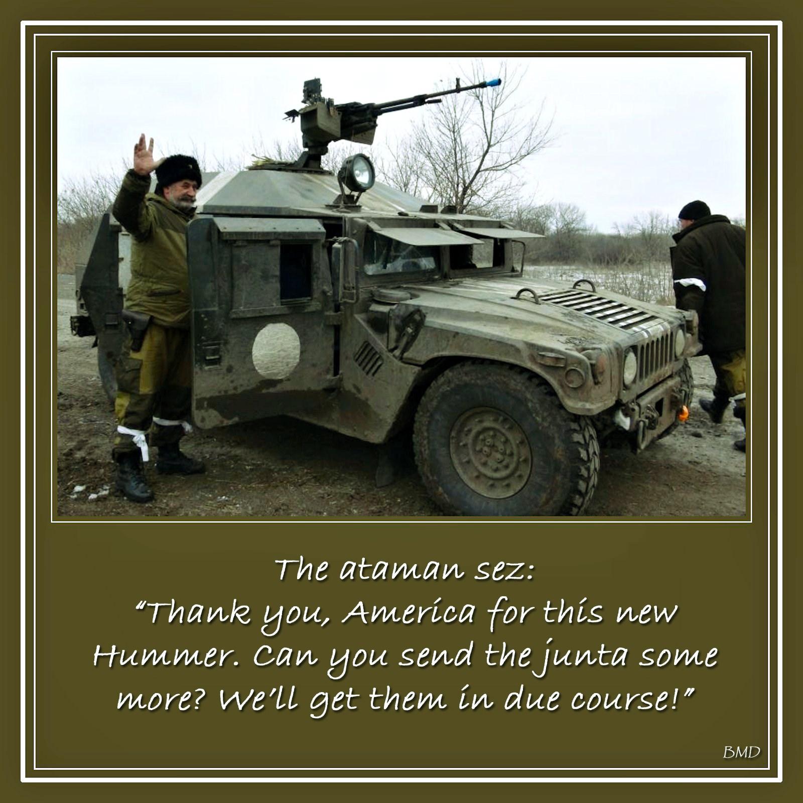 00 captured HUMMER. Ukraine. Novorossiya. 29.03.15