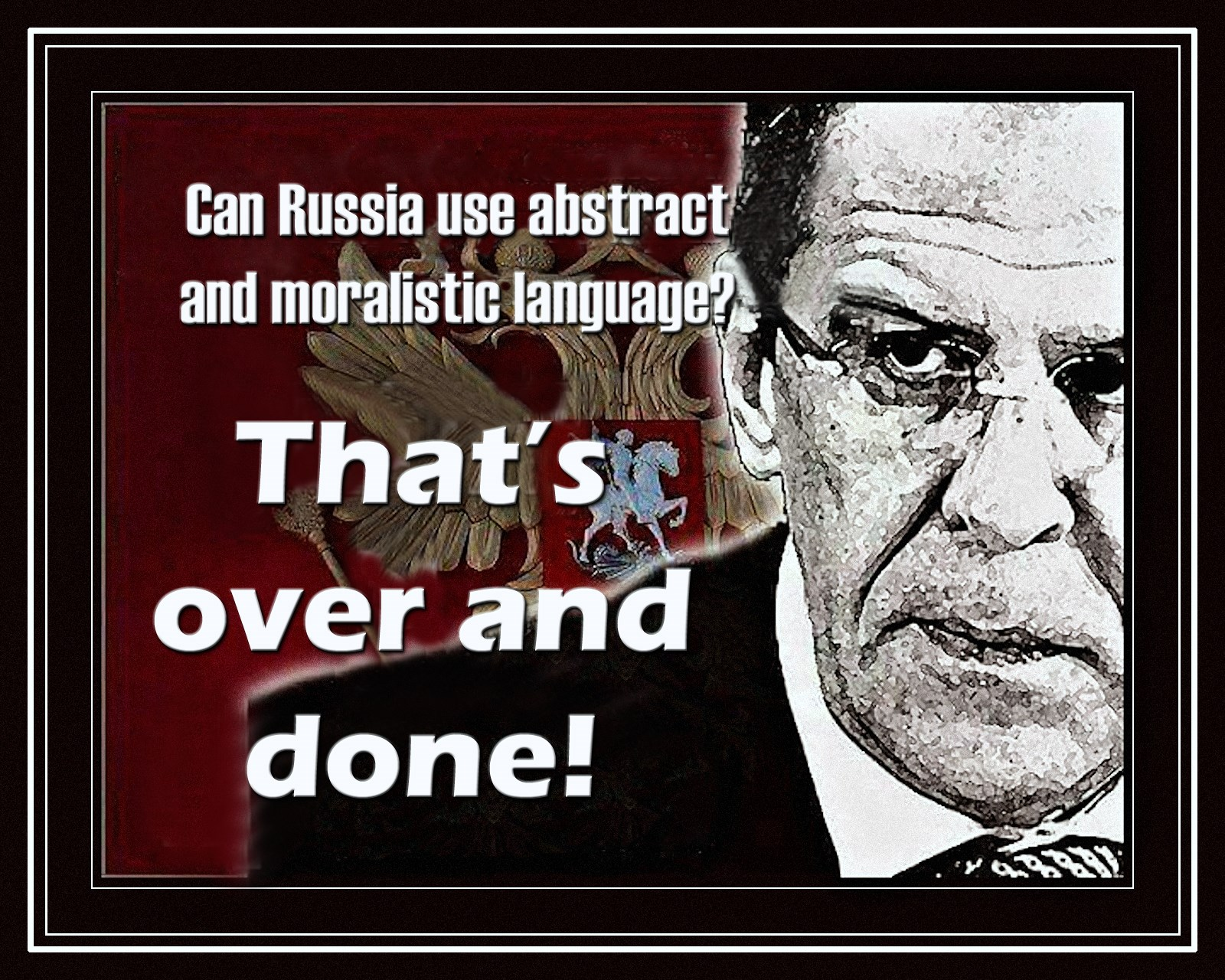 00 Lavrov. Can Russia use abstract and moralistic language. 27.03.15