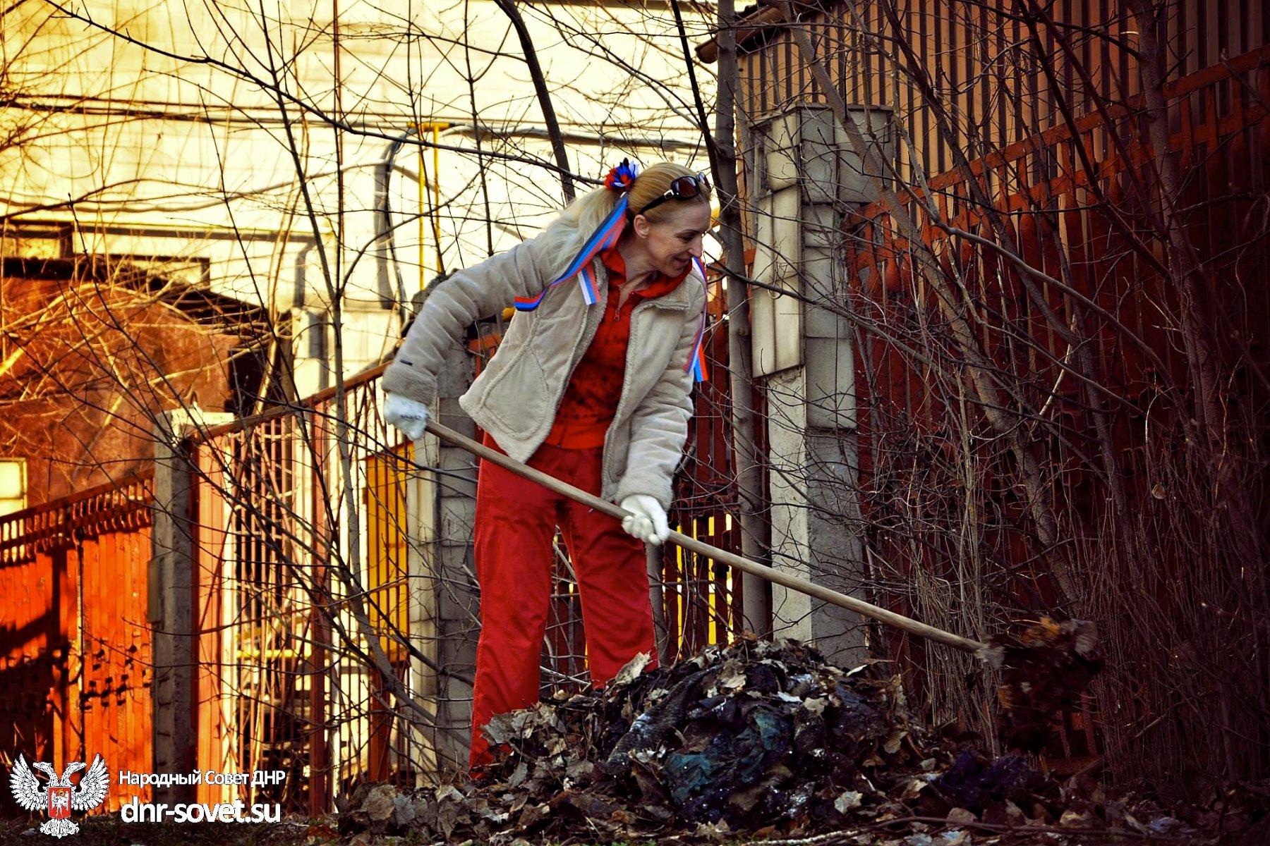 00 subbotnik cleanup in Donetsk. 22.03.15