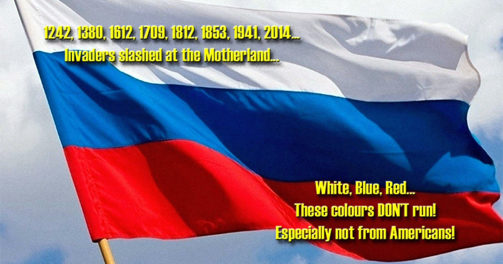 00 The White Blue and Red. These Colours Don't Run. 20.03.15