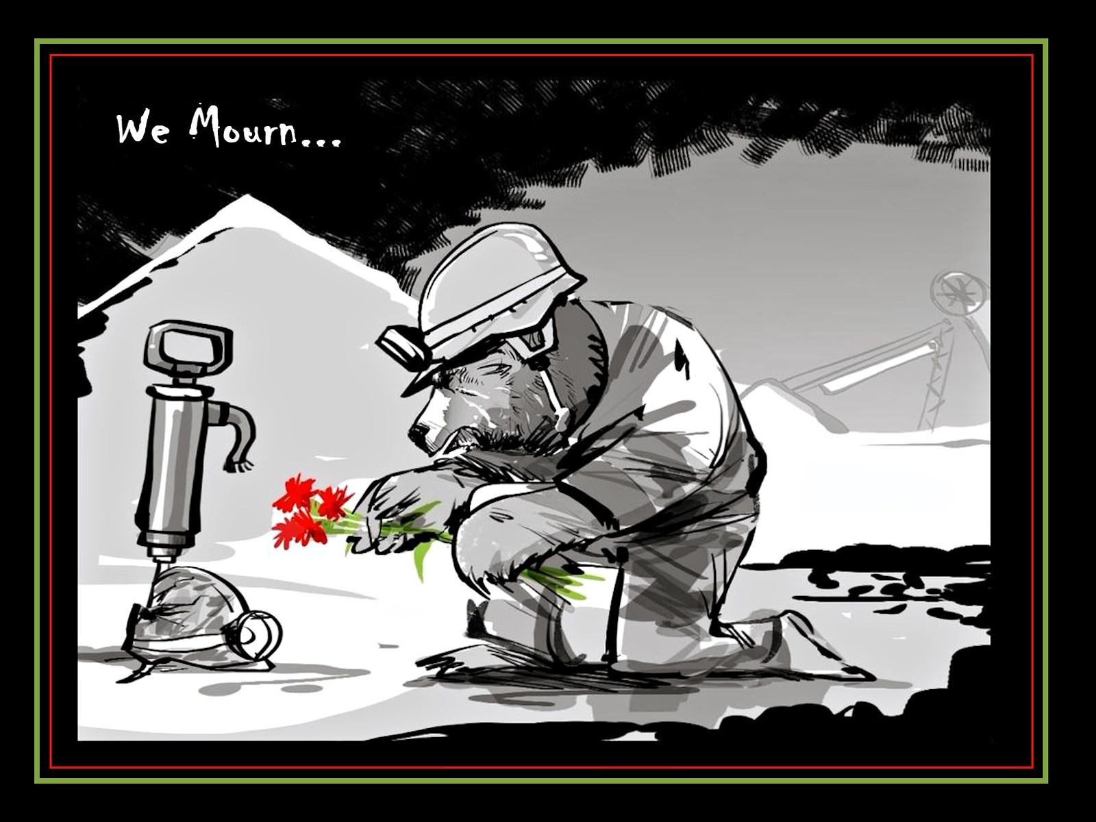 00 Vitaly Podvitsky. We Mourn the Zasyadko Miners. 2015
