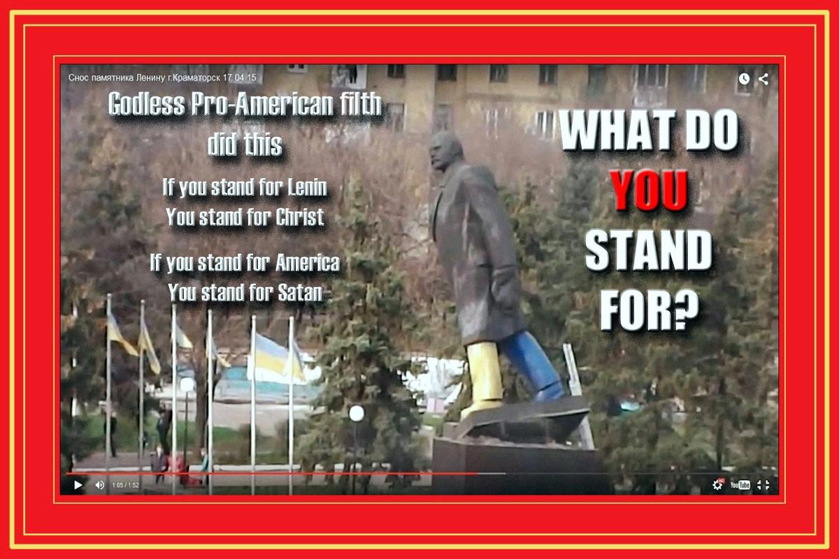 00 godless pro-american filth did this. DNR. Kramatorsk. ukraine. 18.04.15