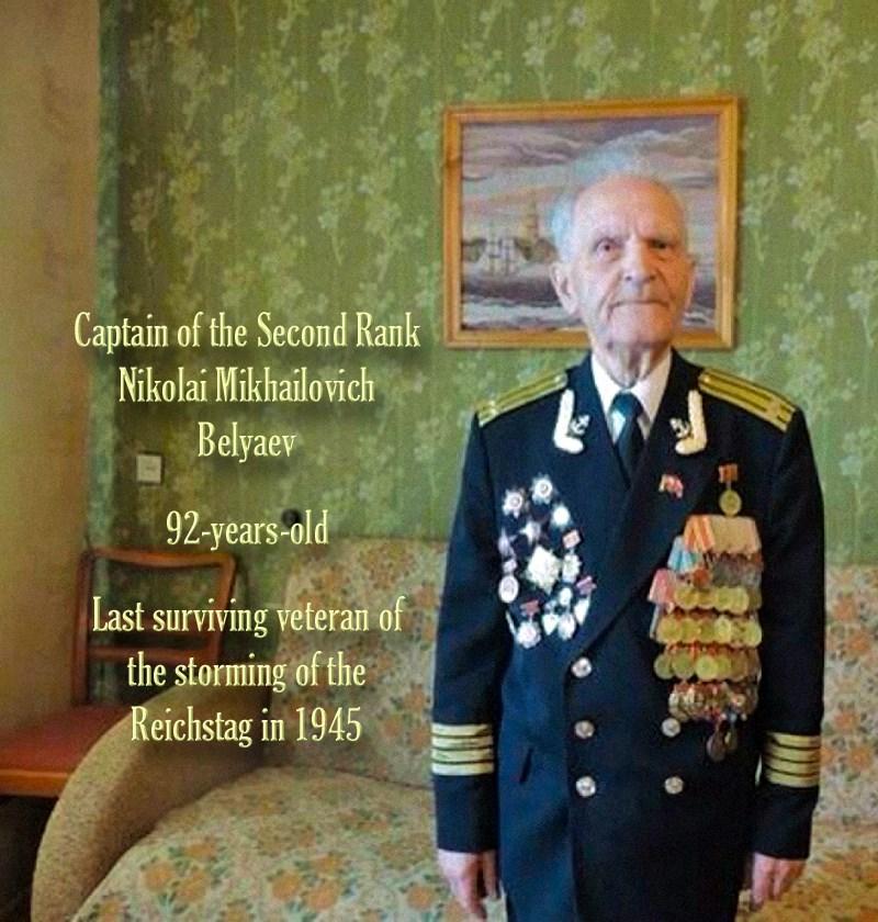00 Nikolai M Belyaev. rusia. last surviving Reichstag veteran. 28.04.15