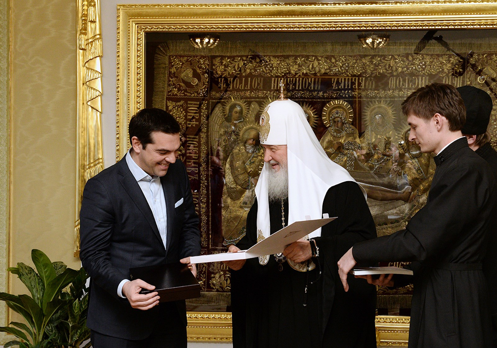 00 Patriarch kirill. Alexis Tsipras. moscow 02. 10.04.15