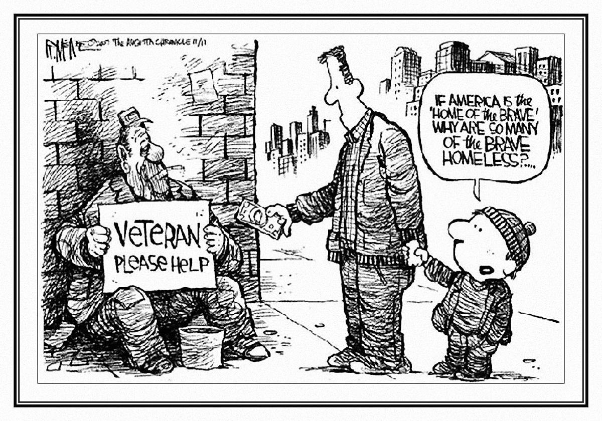 00 homeless vet cartoon. 25.05.15