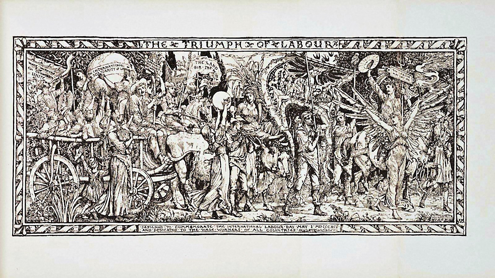 00 Walter Crane. The Triumph of Labour. Dedicated to the Wage-Workers of All Countries. 1895