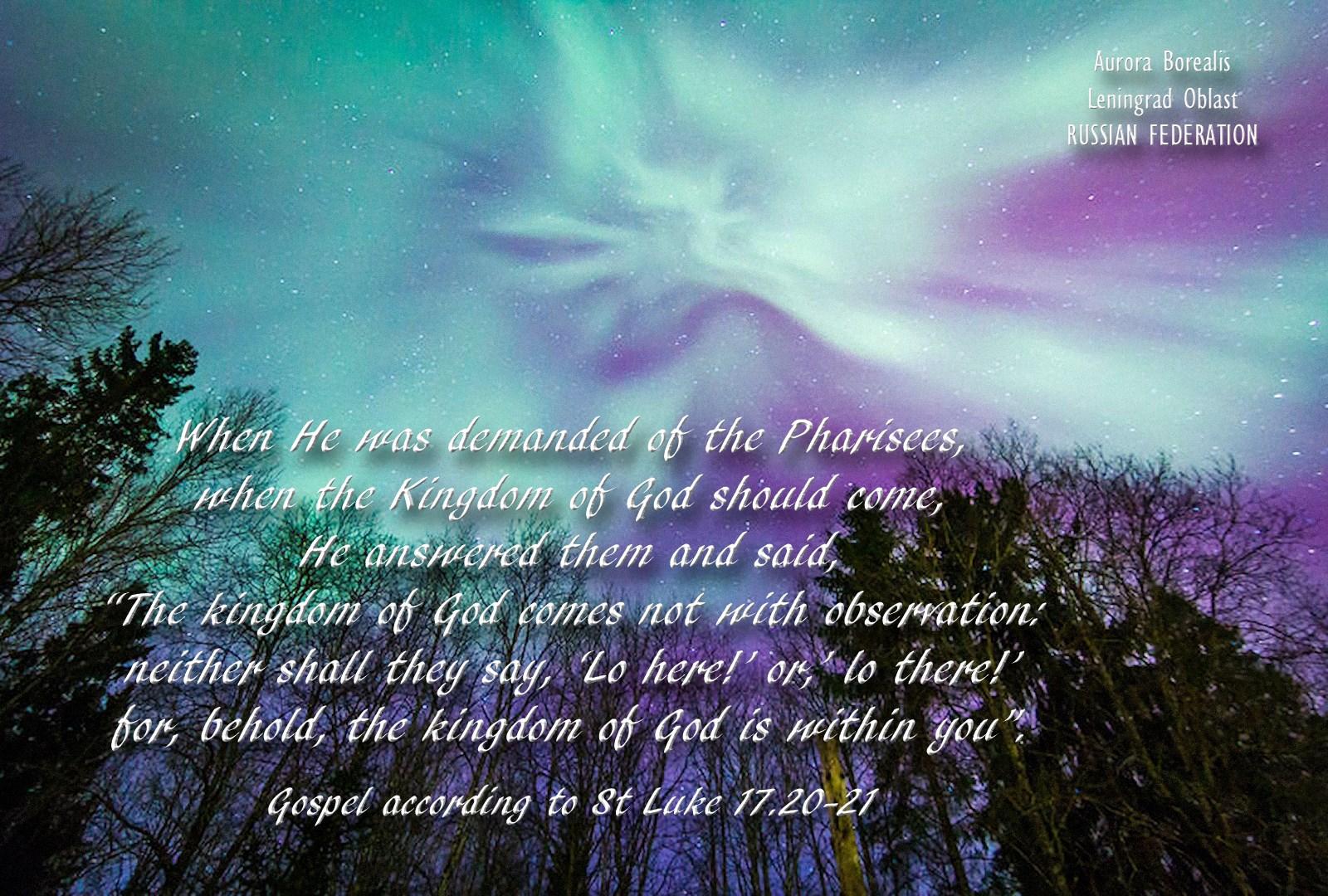 00 Viktor Olkhovsky. Aurora Borealis in Leningrad Oblast 1. gospel of luke. 300615