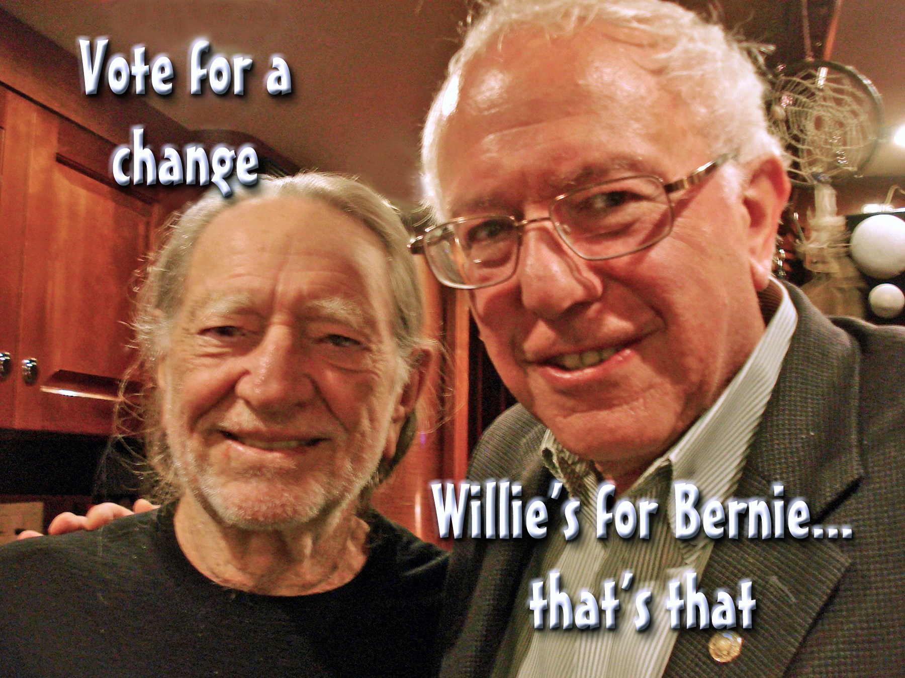 00 bernie sanders and willie nelson. 030715