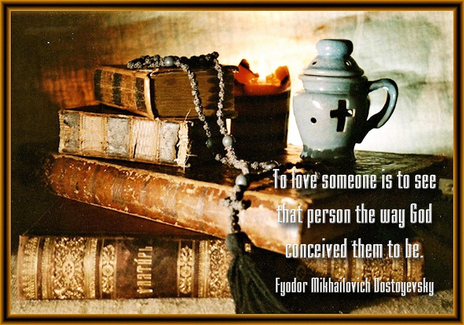 00 cross and books. russian orthodox. dostoyevsky. 030715