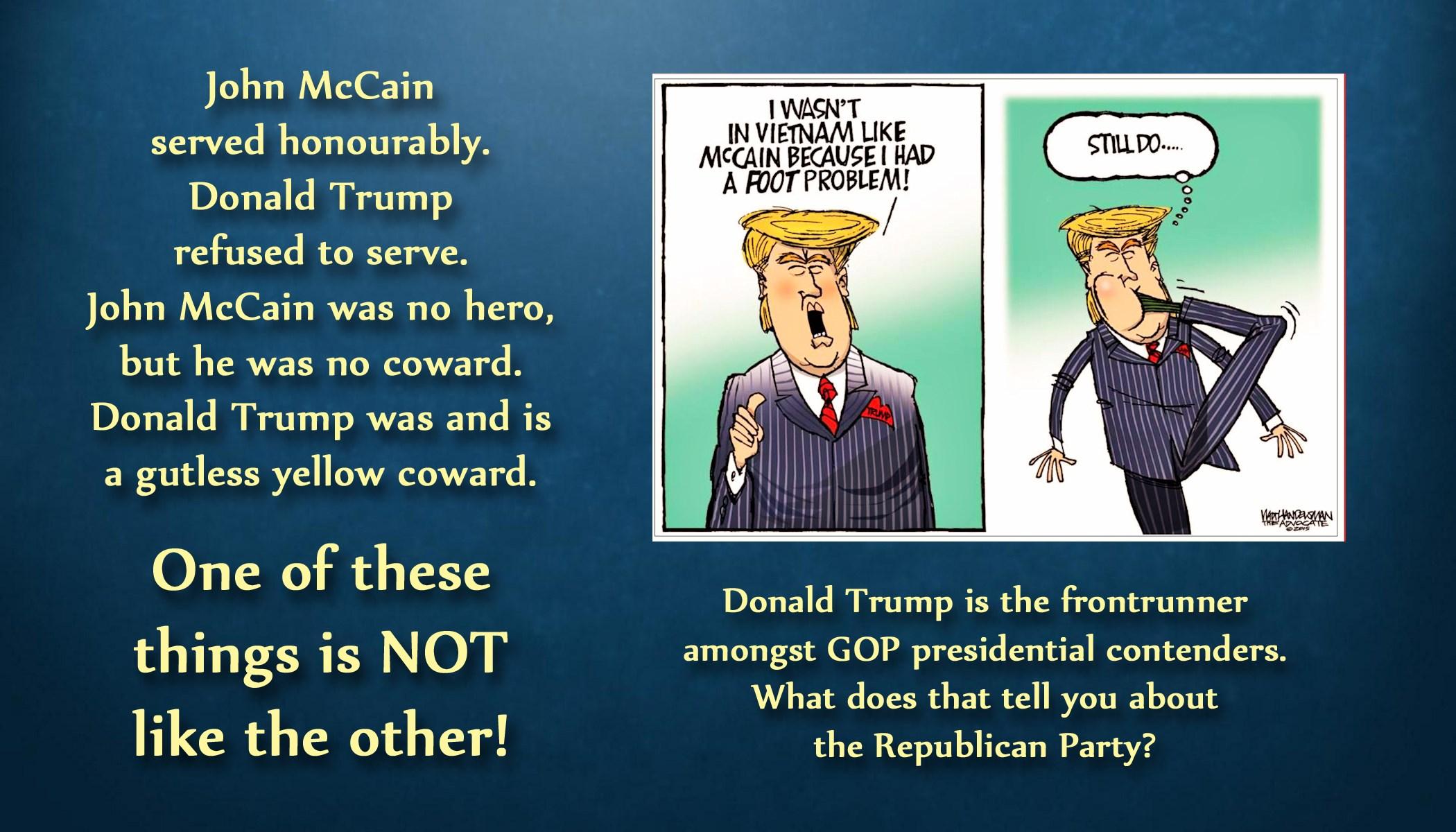 Image result for image cartoon coward trump