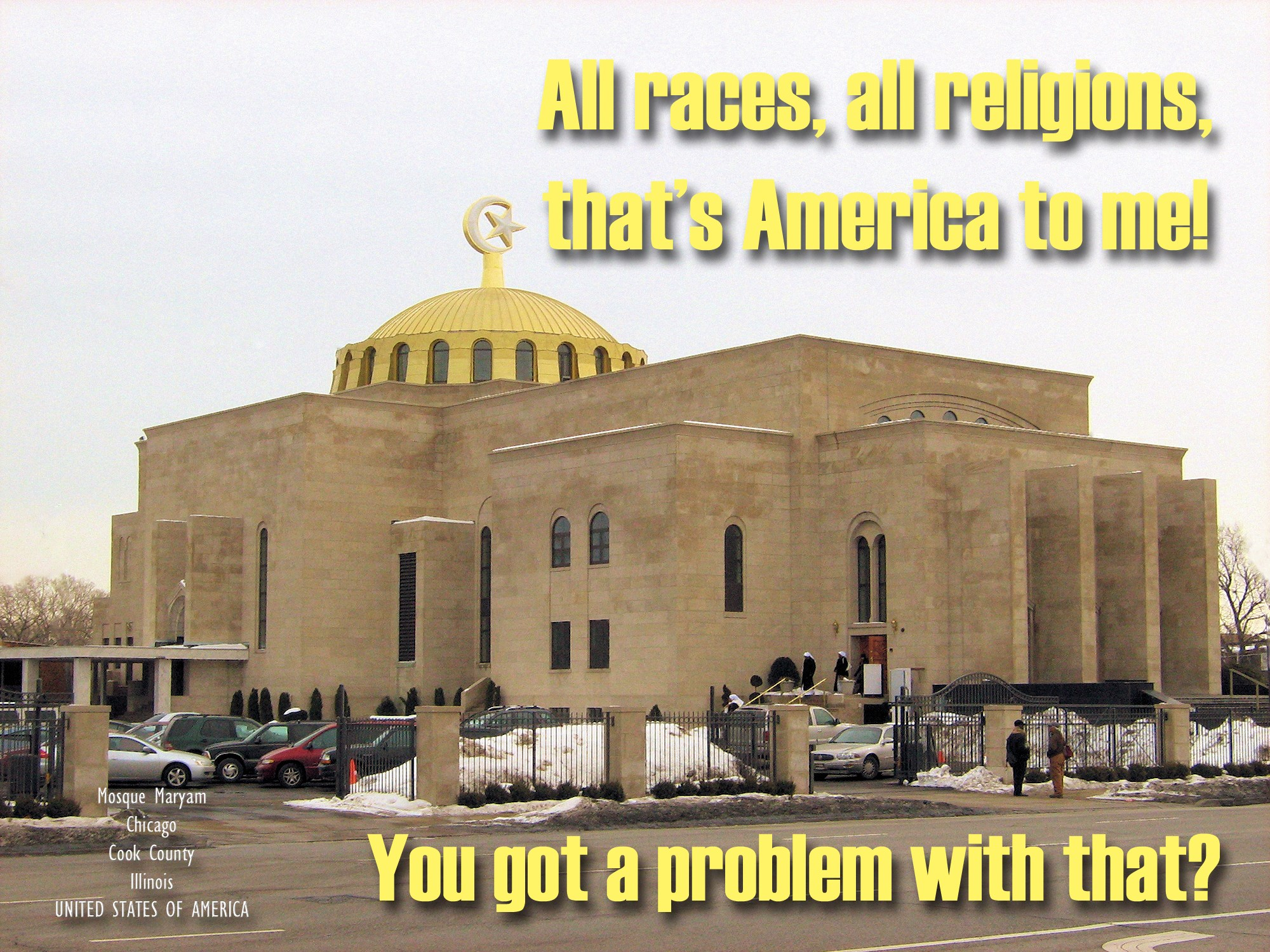 00 Mosque Maryam. Chicago IL USA. all races all religions. 010715