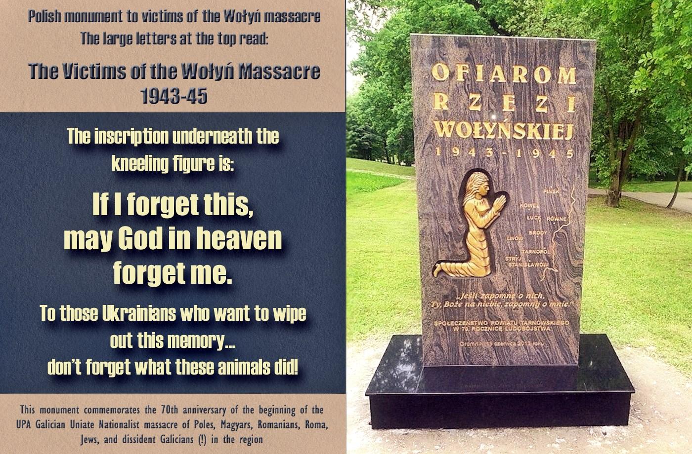 00 polish memorial volyn massacre. 280715