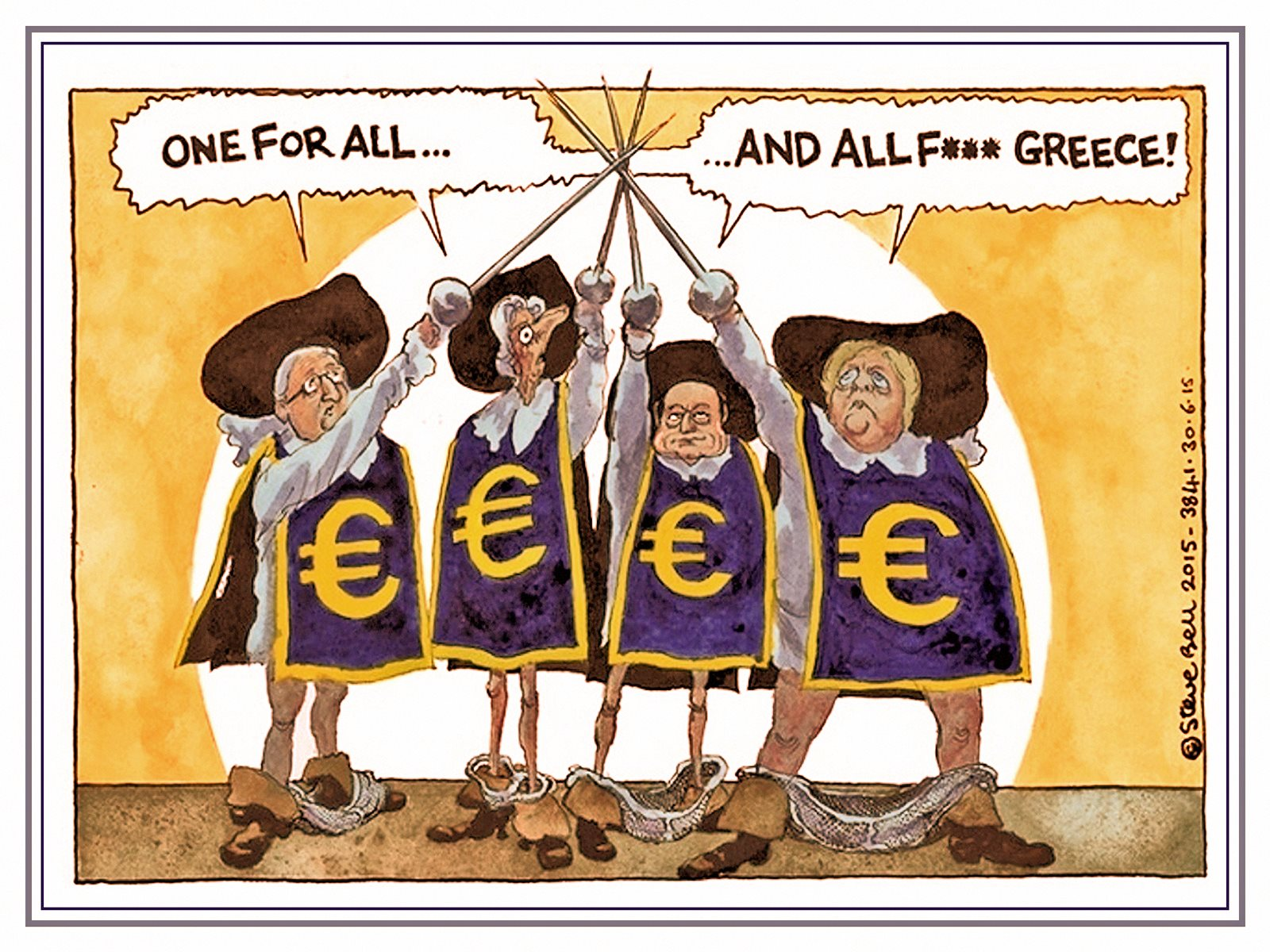 00 Steve Bell. One for All.. And F Greece! 050715