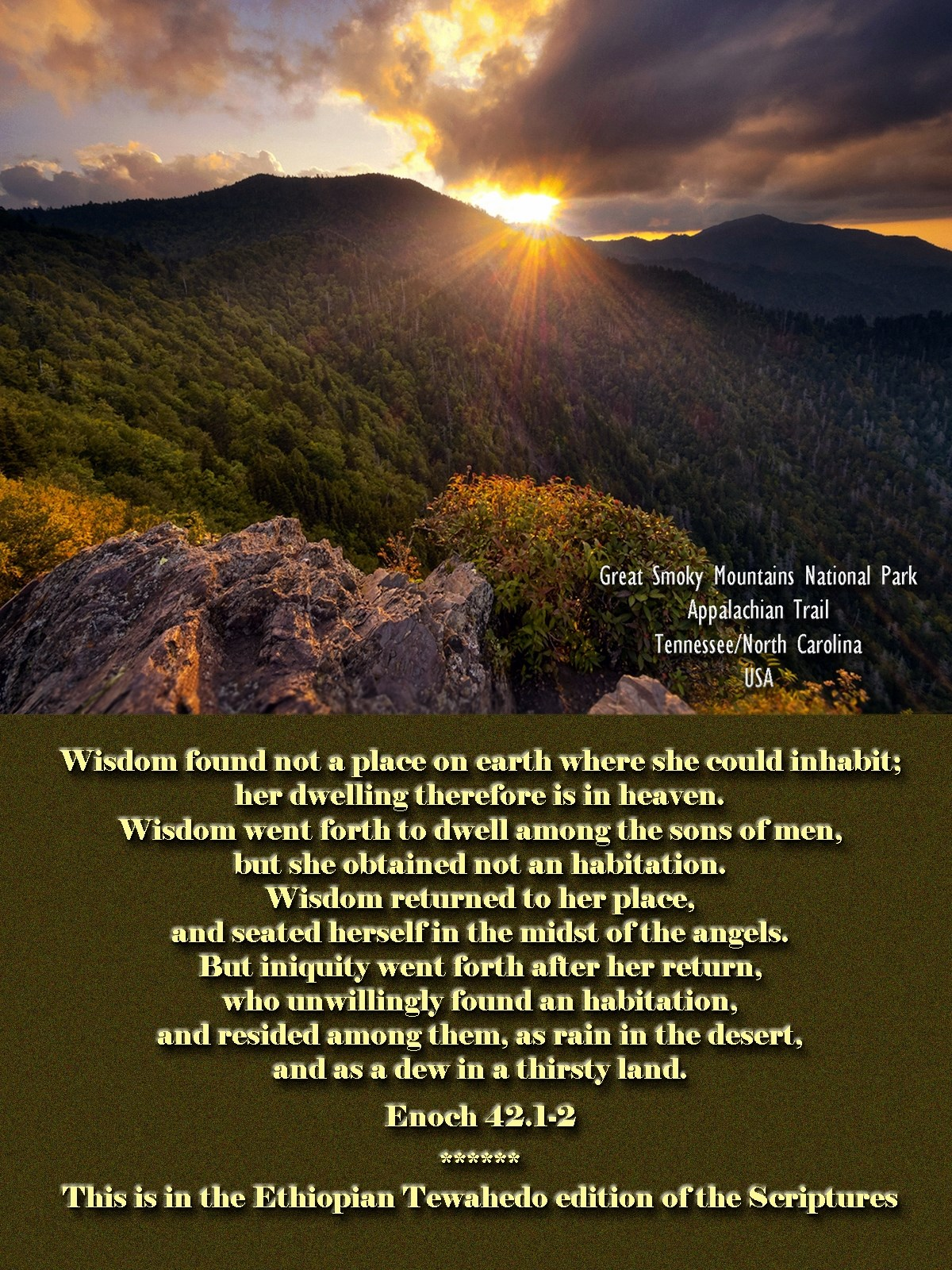 00 appalachin trail. great smoky mountains national park usa. book of enoch. 270815