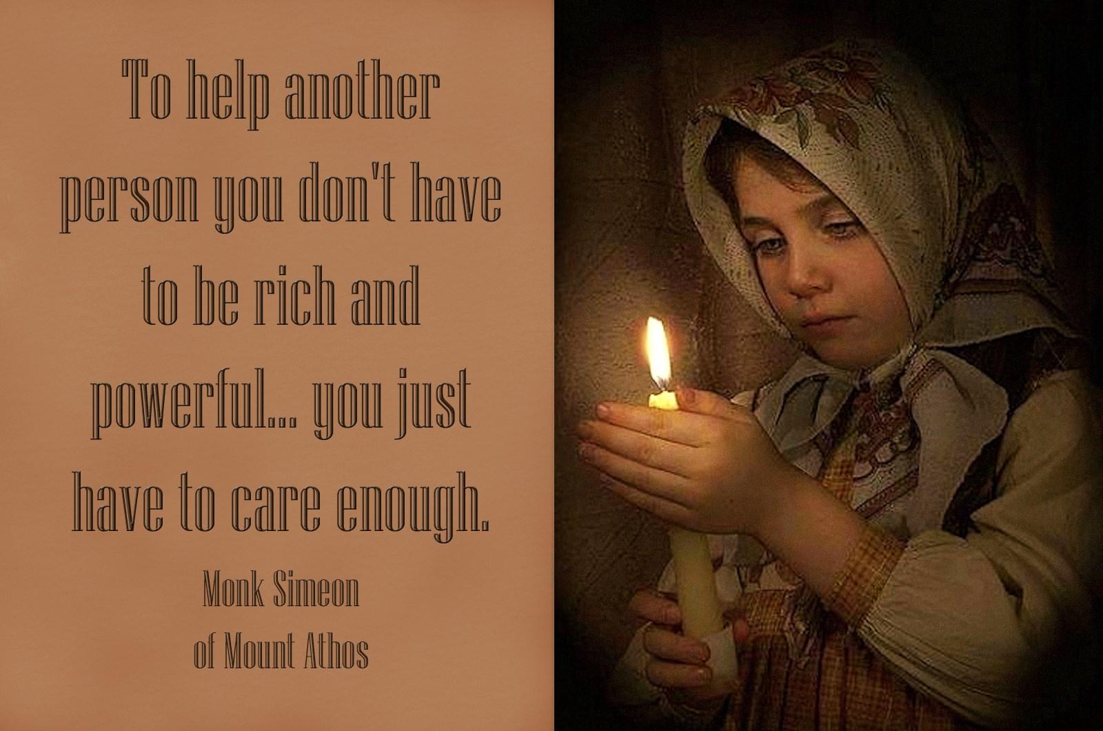00 little girl monk simeon. 010815