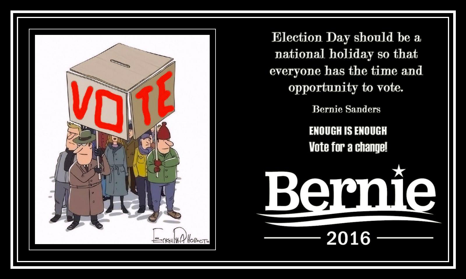 00 Bernie Sanders on election day 040915