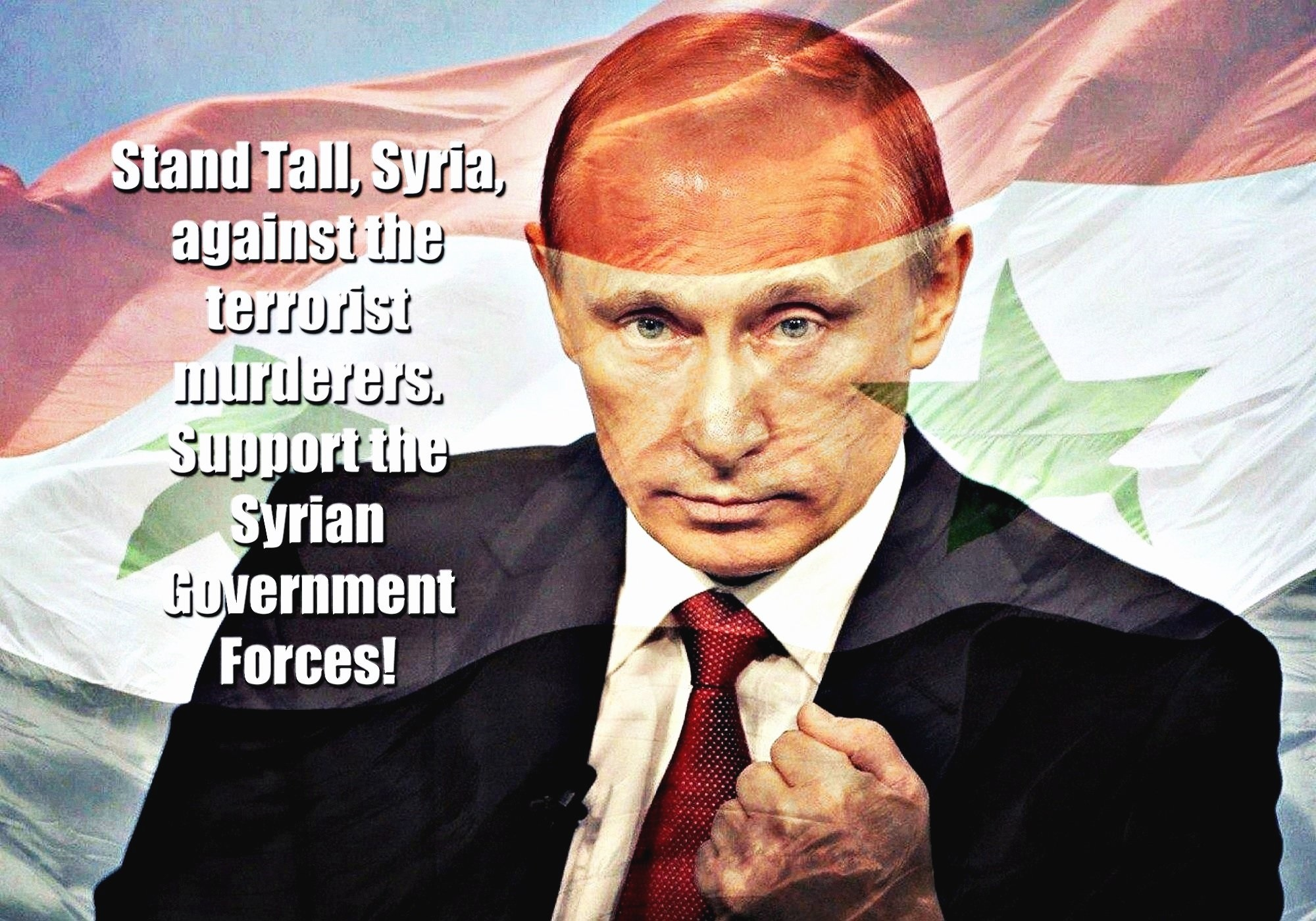 00 stand tall syria! Putin. russia 280915