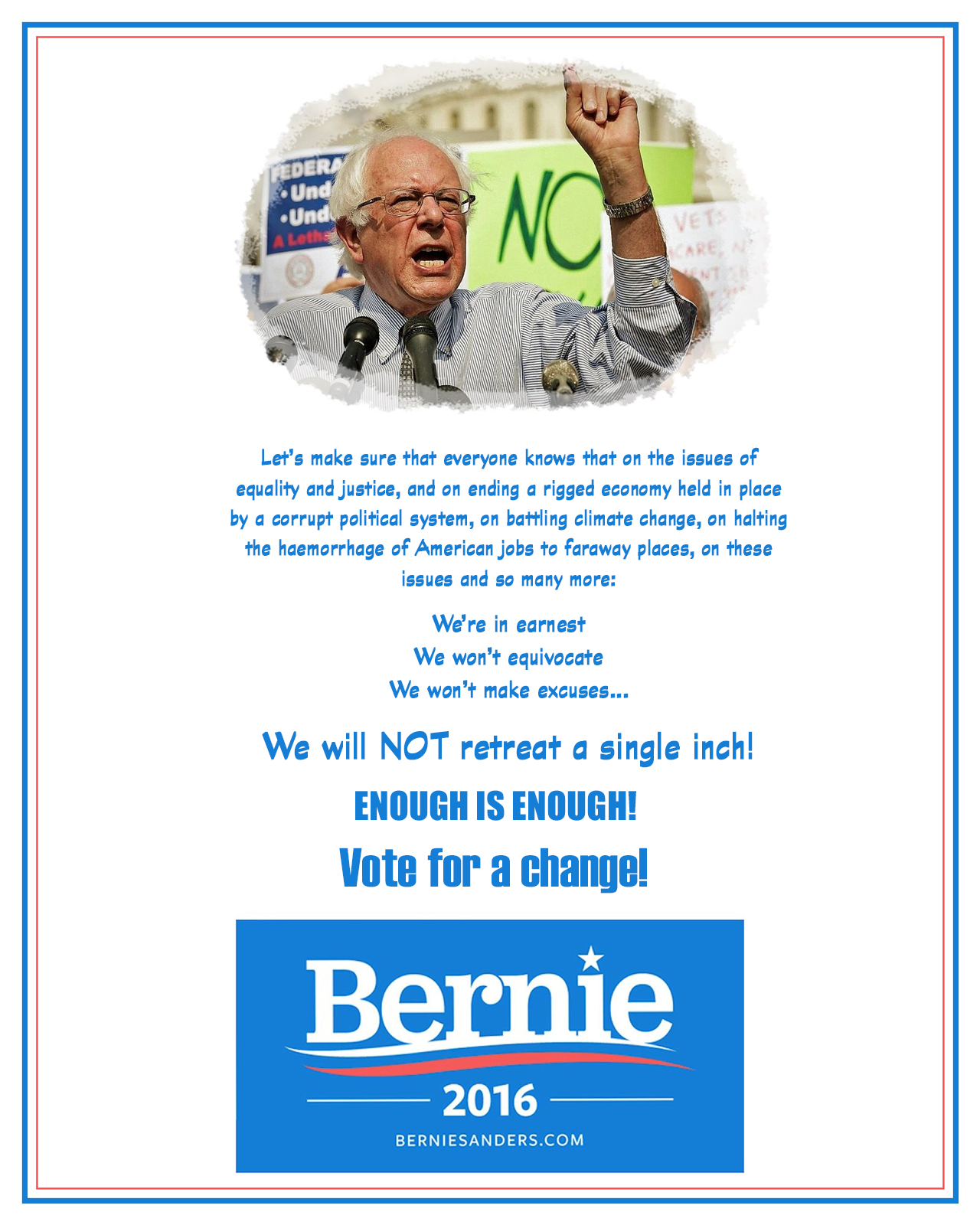 00 bernie we're in earnest 261015