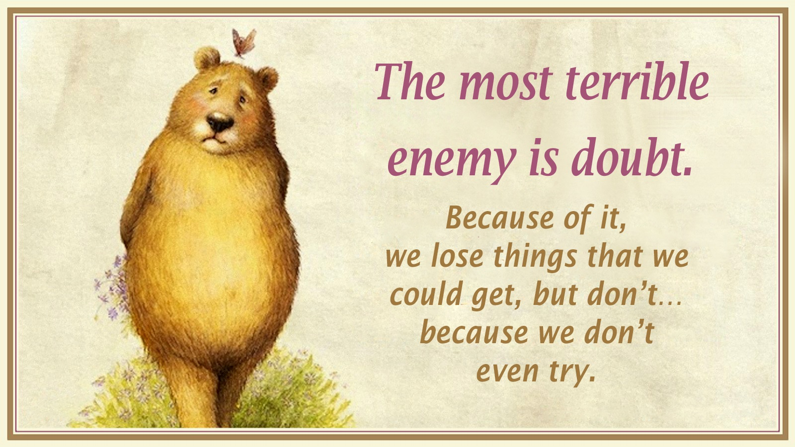 00 the most terrible enemy is doubt. russian 161015