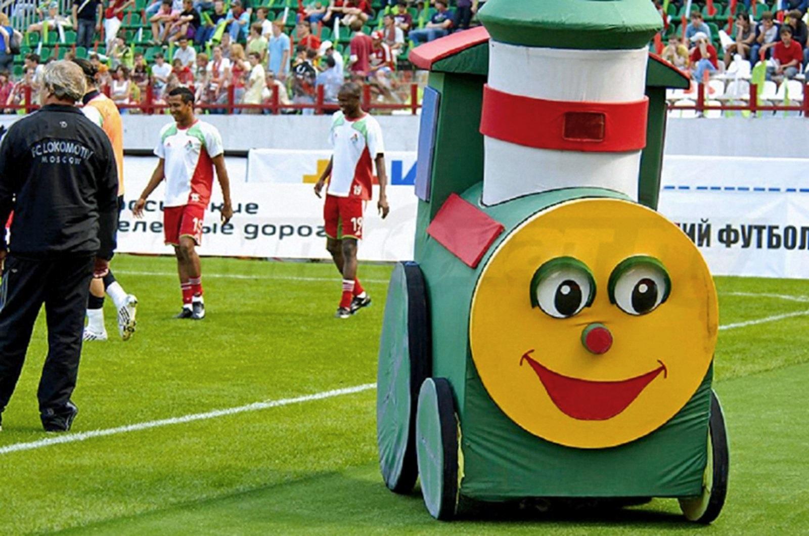 00 FK Lokomotiv mascot on the pitch 221115