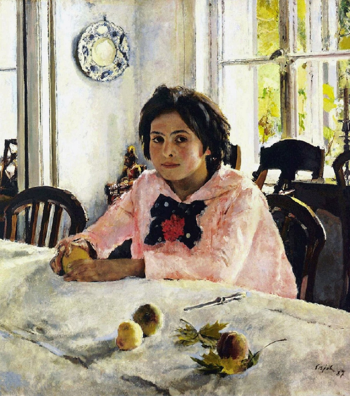 00 Valentin Serov. Girl with Peaches. 1887
