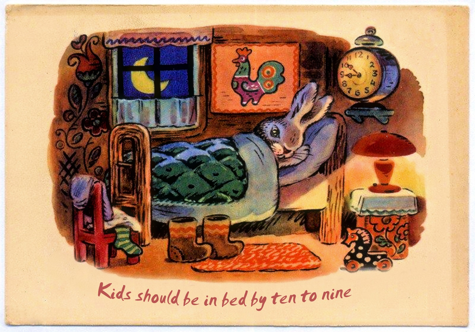 00 Konstantin Zotov. Kids Should Be in Bed by Ten to Nine. english. 1964