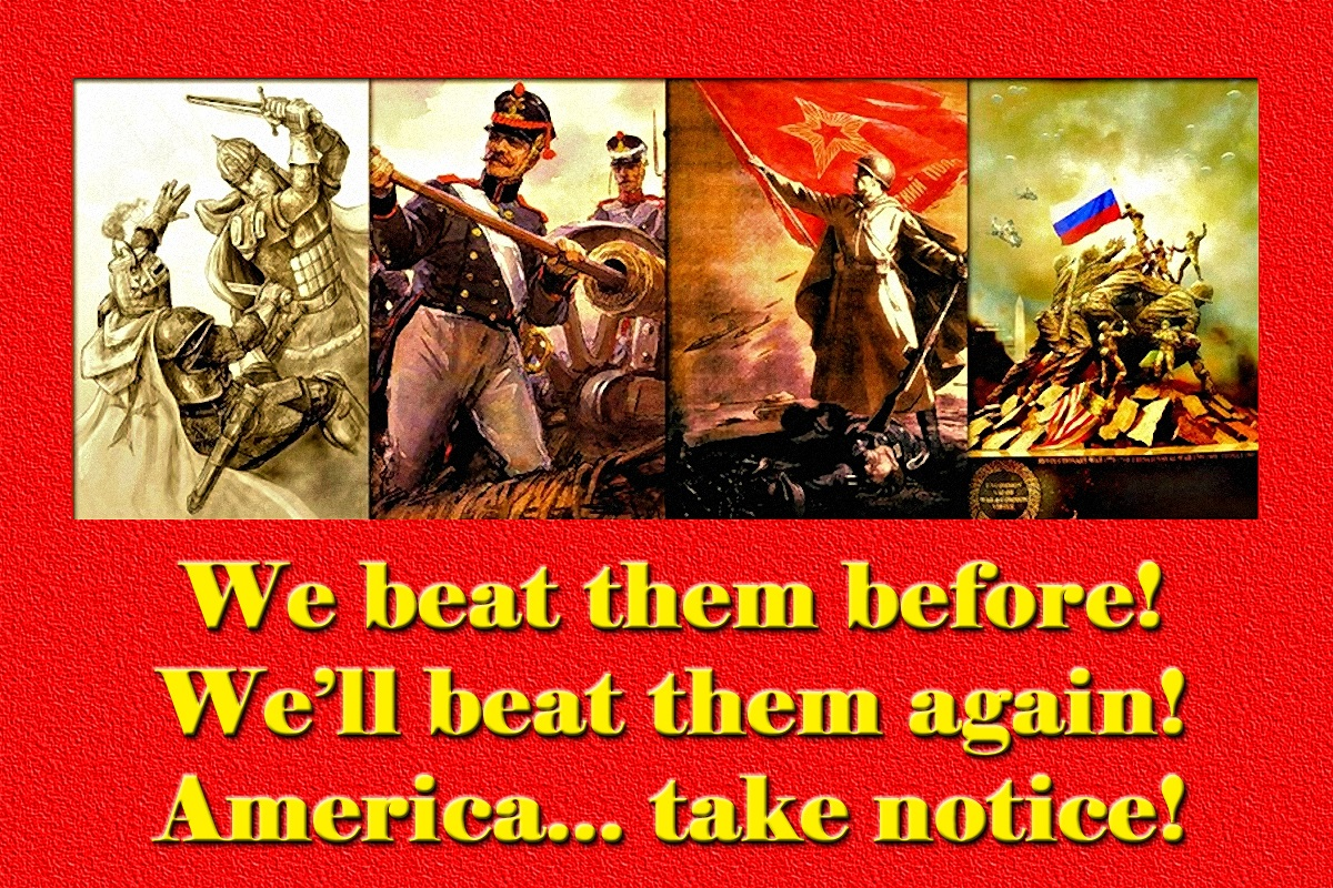00 russia we beat them before and we'll beat them again! 250616