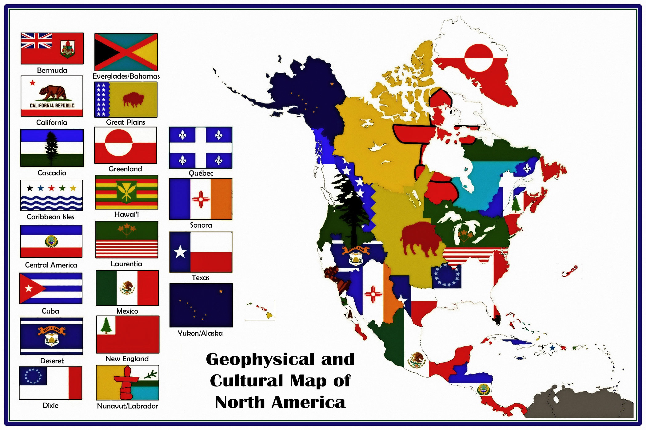 Map Of America 2017.26 August 2017 Geophysical And Cultural Map Of North America